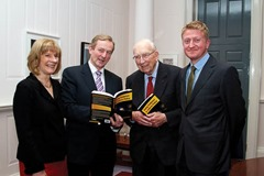 Using Evidence to Inform Policy. Edited by Pete Lunn & Frances Ruane Using Evidence to Inform Policy will be launched by Taoiseach Enda Kenny on 27 November in Government Buildings.   Pictured at the launch  L to R)  Prof Frances Ruane (Director, ESRI and co-editor) Dr TK Whitaker,  Dr Pete Lunn (co-editor)    The book, edited by economist, author and former BBC journalist Pete Lunn and the Director of the ESRI Frances Ruane, is a unique examination of how evidence can be used to improve policymaking, especially in challenging times. The fallout from the recent Budget has emphasised the need for transparency in policy decisions. Research and evidence can help to provide this transparency, and Using Evidence to Inform Policy outlines how. However, the book also demonstrates the complexity of the relationship between evidence and policy, arguing that in most cases good policy cannot be determined by evidence alone. About the book: Using Evidence to Inform Policy demonstrates the breadth and value of the contribution that evidence can make to policy. It presents eleven studies drawn from recent ESRI research projects, illustrating different aspects of the relationship between evidence and policy, and how these vary by policy area. The theme of how evidence can influence policy is examined in a wide range of areas, including the economy, public infrastructure, innovation, competition, the labour market, financial regulation, healthcare, housing, education, government spending, public services and earnings.  Each chapter tackles a question that'??s relevant to policymaking in Ireland now, for example, how to protect consumers of financial services; what is the Irish public'??s perception of public services and their implications for public sector reform?; how to explain changes in earnings and labour costs during the recession; what is the evidence for providing economic security through competition and regulatory policy?; do active labour market policies activate?; how
