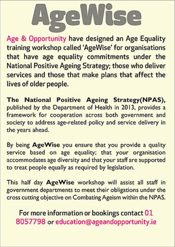 agewise blurb public sector