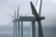 Construction of Burbo Bank Windfarm, 25 units 3.6 MW, 90 MW, at Liverpool Bay, Great Britain