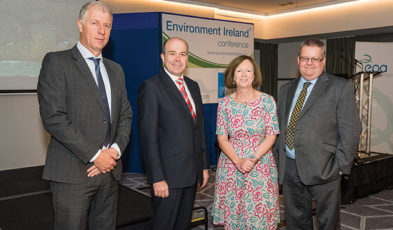 Hans Bruyninckx, European Environment Agency; Denis Naughten, TD, Minister for Communications, Climate Action and Environment; Laura Burke, Environmental Protection Agency and Terry Dunne, Department of Communications, Climate Action and Environment.