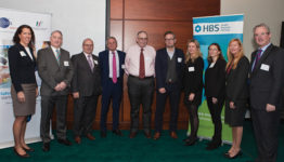 (L to R): Siobhain Duggan GS1, John Swords HSE, Pat Tracey DCC Vital, Michael Kelly GS1, Chris Tulloch North Tees, Richard Corbridge HSE, Joan Cahill Pfizer, Nicola Hickie HPRA, Siobhan Dunphy HSE, Mike Byrne GS1.