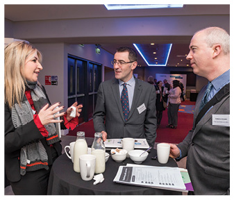 Aisling Keegan, Dell Inc; Cathal Nolan, Ulster Bank and Tomas Ó Ruairc, The Teaching Council.