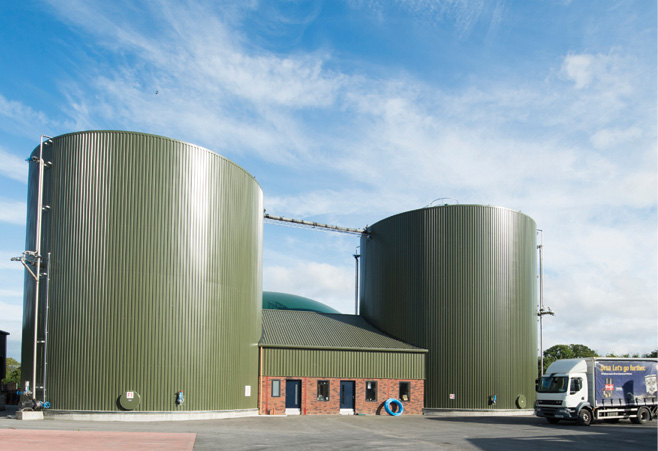 Renewable gas – generated principally through a process called anaerobic digestion. Photo features AD site in Nurney, County Kildare.