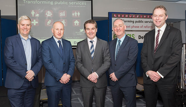 Alex Roberts, OECD; Shane Mohan, Deloitte; Robert Watt, Department of Public Expenditure and Reform; Peter Carey, Kildare County Council and Barry Lowry, Department of Public Expenditure and Reform.