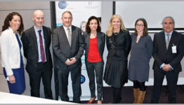 GS1 Healthcare User Group Information Day. From L to R: Siobhain Duggan GS1, Brian Long HSE, John Swords HSE, Geraldine Lissalde Bonnet GS1, Sarah O'Neill DCC Vital, Sinead Duggan HPRA, Ronnie McDermott HSE.