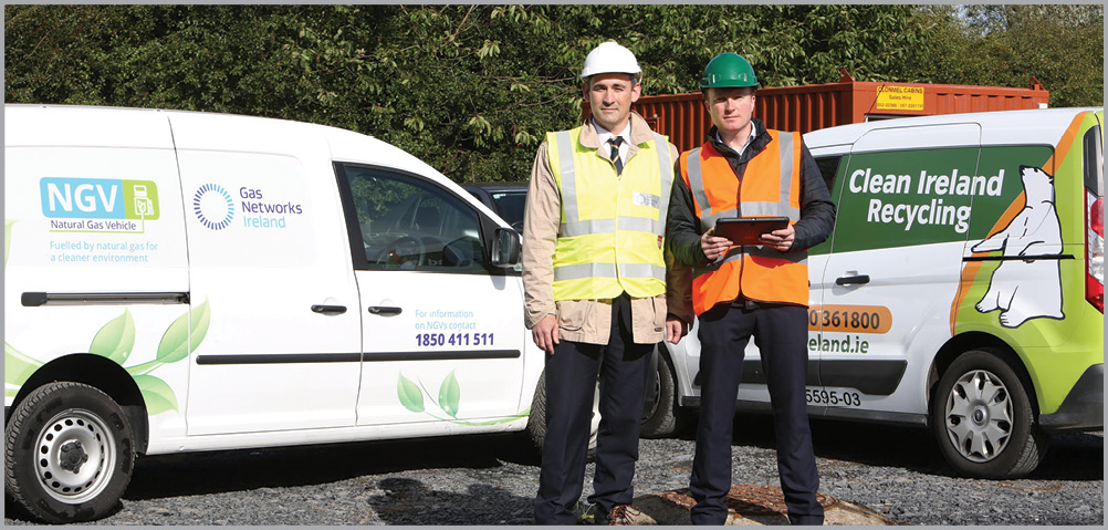 Dan FitzPatrick Commercialisation Manager, Gas Networks Ireland and Brian Lyons, Operations Director, Clean Ireland Recycling.