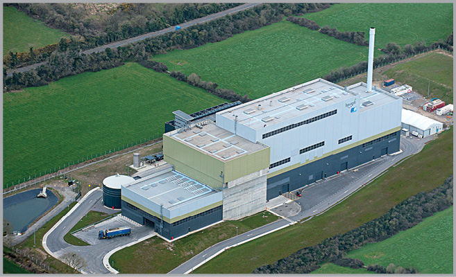 Indaver's waste to energy facility at Duleek, County Meath.