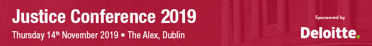 Justice Conference 2019 · The Alex, Dublin · Thursday 14th November 2019